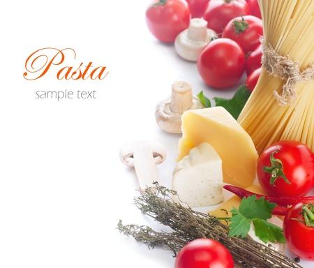 Pasta italiana con tomates