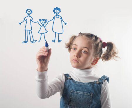 kind tekenen zijn droom van het geluk