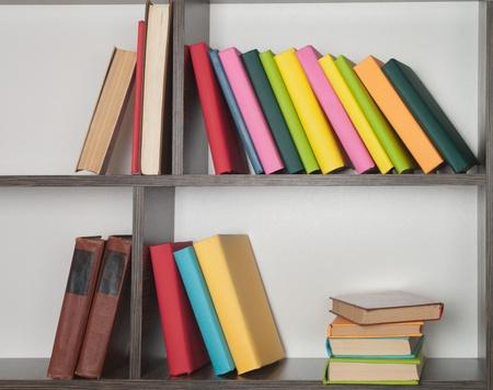 colorful book  on the bookshelf  photo
