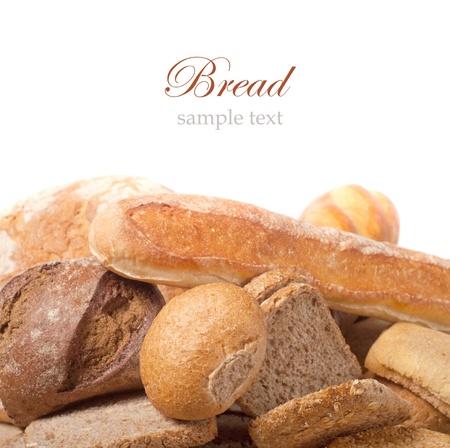 comiendo pan: diferentes tipos de pan Foto de archivo