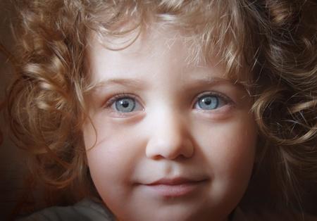 innocent girl: Happy little girl.
