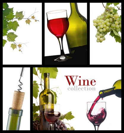 a collection of images of wine photo