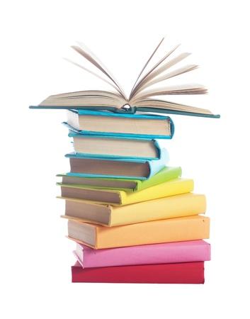 books on white background Stock Photo - 14526143