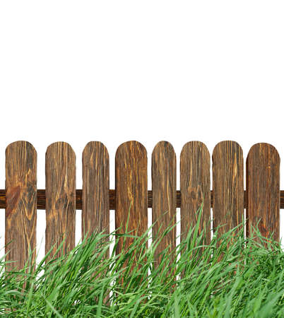 fence with green grass  photo