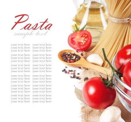 italian pasta with tomato  photo