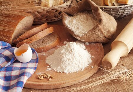 fresh bread on the table Stock Photo - 14685025