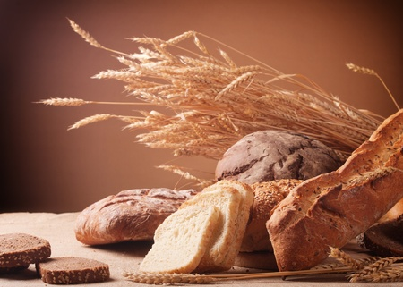 different types of bread photo