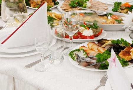 Catering eten op een bruiloft - een serie RESTAURANT beelden. Stockfoto - 16024106