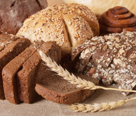 different types of bread Stock Photo - 16023852