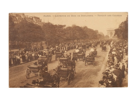 bois: FRANCE - CIRCA 1905  A postcard printed in France shows image of a Bois de Boulogne in Paris series, circa 1905