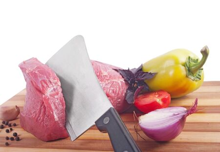 butcher's shop: Raw fresh meat Stock Photo