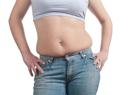 abdomen women: fat woman