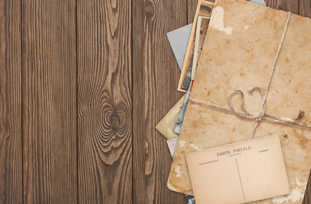 vintage background with old paper photo
