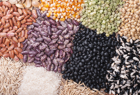 Cereal grains , seeds, beans photo