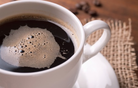 granos de cafe: taza de caf�