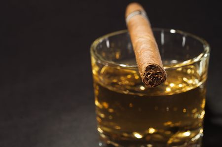 drunks: Whiskey drink with cigar