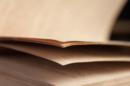 View of book pages photo