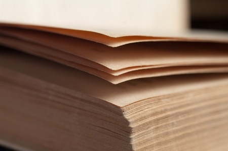 prose: View of book pages Stock Photo
