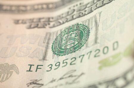 super macro: US Dollar bill, super macro, close up photo