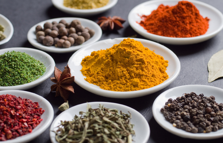 Various spices selection. 版權商用圖片