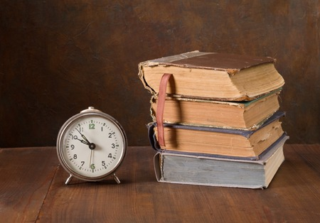Vintage still life with books photo