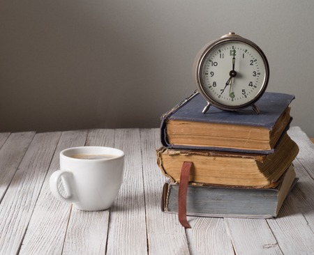 Vintage still life with books