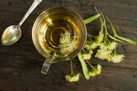linden tea: Cup of linden tea