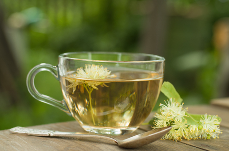 limetree: Cup of tea with dry lime-tree flowers