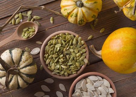 pumpkin with seeds Stockfoto