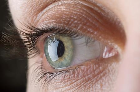 Makro obraz ludzkiego oka Zdjęcie Seryjne
