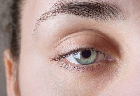 human eye: Macro image of human eye