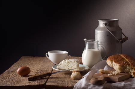 leche y derivados: Todavía vida con los productos lácteos