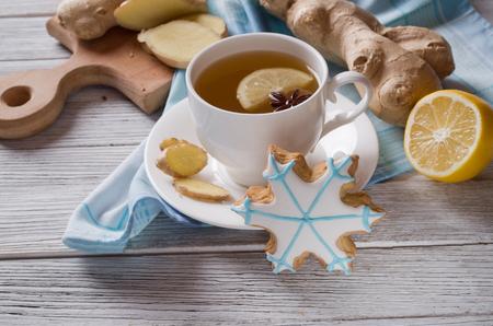 christmas tea: Ginger tea Stock Photo