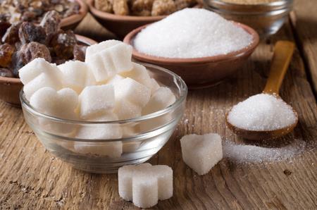 Vaus tipos de azúcar Foto de archivo