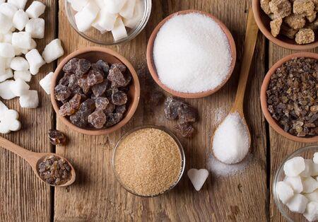 granulated: Various kinds of sugar