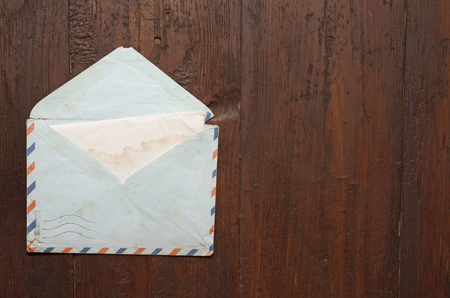 open envelope: open Envelope by air mail Stock Photo