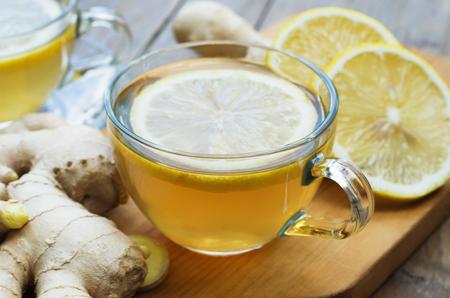 Tè allo zenzero al limone Archivio Fotografico