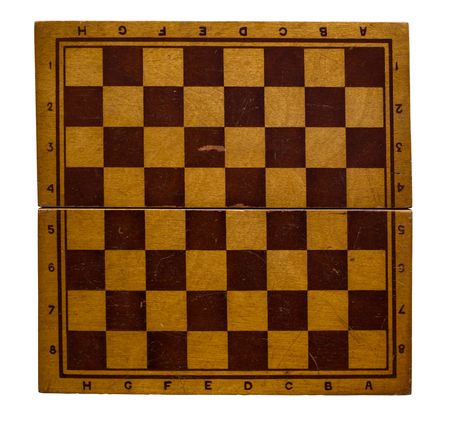 chessboard isolated on white background