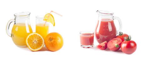 Fresh juice isolated on white
