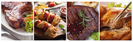 Collection of different meat and vegetables Standard-Bild