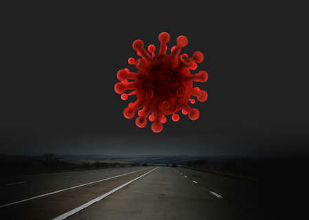 empty highway during an epidemic
