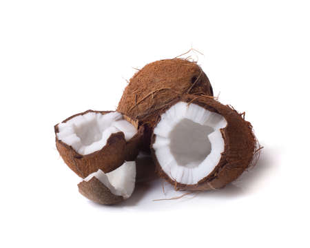 coconuts isolated on the white background Standard-Bild