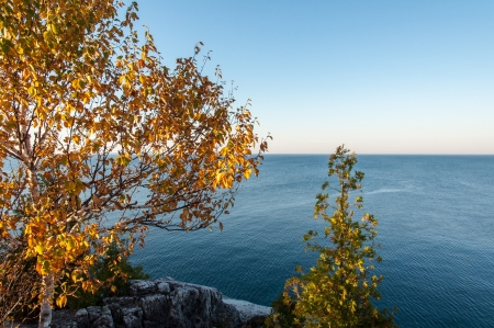 Lake Huron in fall photo