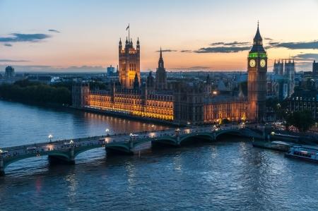 westminster bridge: Big Ben, London Stock Photo