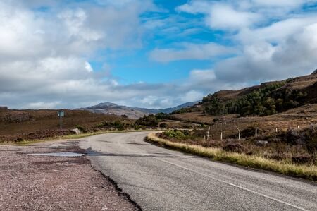 Rural road in Scotland