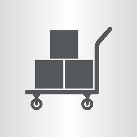 heavy duty: Platform truck icon Illustration