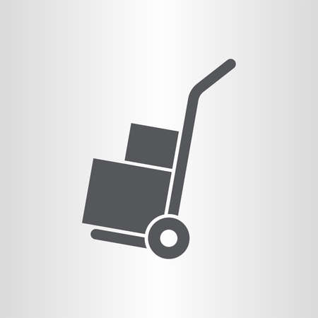 heavy duty: Handle hand truck icon