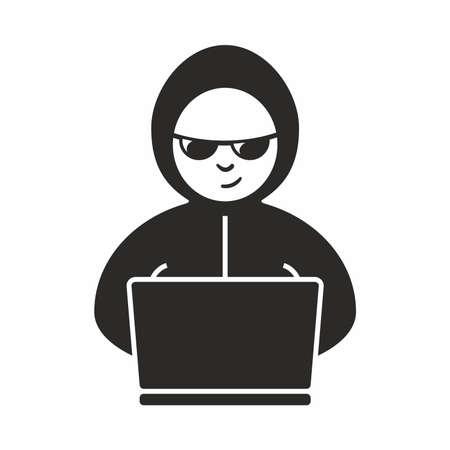 Hacker icoon Stock Illustratie