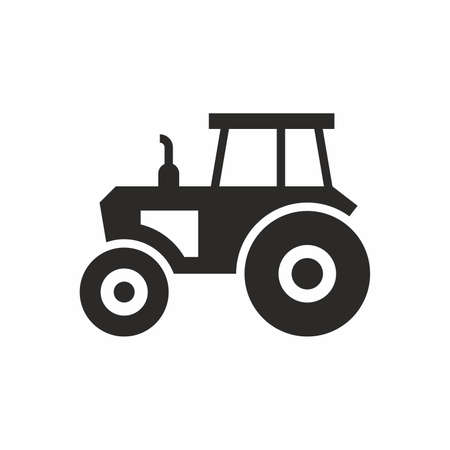 tractor sign: Tractor icon Illustration