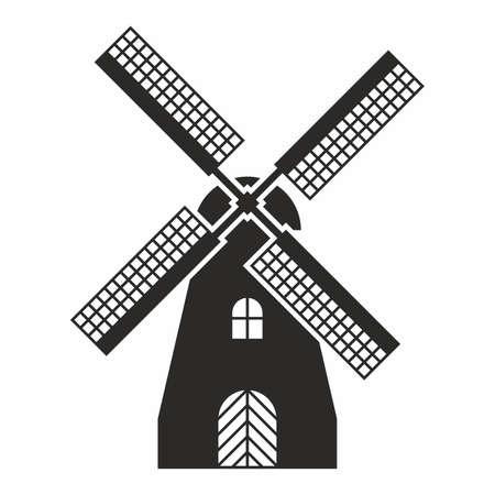 Windmolen icoon Stock Illustratie
